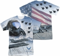 Air Force mens full sublimation t-shirt Pilot