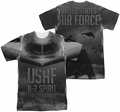 Air Force mens full sublimation t-shirt Stealth