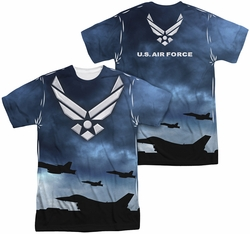 Air Force mens full sublimation t-shirt Take Off