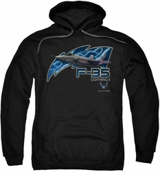 Air Force pull-over hoodie F35 adult black