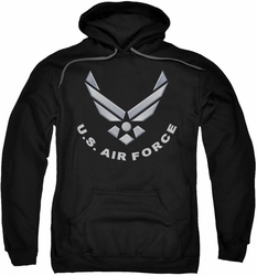 Air Force pull-over hoodie Logo adult black