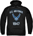 Air Force pull-over hoodie Property Of adult black