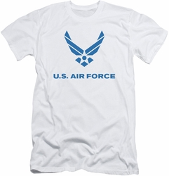 Air Force slim-fit t-shirt Distressed Logo mens white