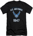 Air Force slim-fit t-shirt Property Of mens black