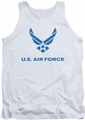 Air Force tank top Distressed Logo adult white