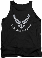 Air Force tank top Logo adult black