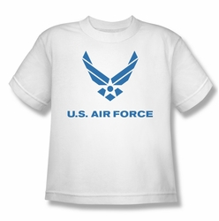 Air Force youth teen t-shirt Distressed Logo white