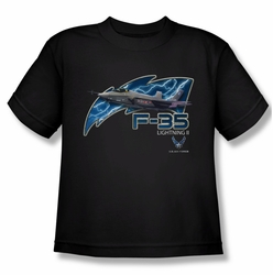 Air Force youth teen t-shirt F35 black