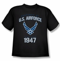 Air Force youth teen t-shirt Property Of black