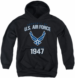 Air Force youth teen hoodie Property Of black