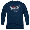 Airplane adult long-sleeved shirt Dont Call Me Shirley navy