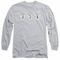 Airplane adult long-sleeved shirt Johnny Improv silver