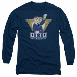 Airplane adult long-sleeved shirt Otto navy