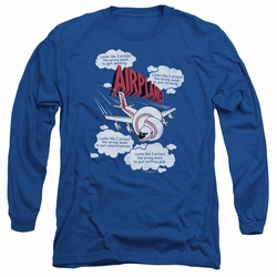 Airplane adult long-sleeved shirt Picked The Wrong Day royal