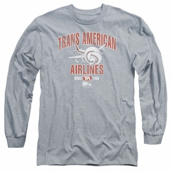 Airplane adult long-sleeved shirt Trans American heather