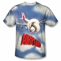 Airplane front sublimation t-shirt Title short sleeve White