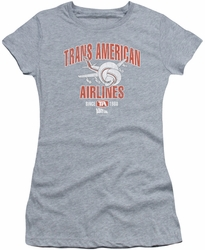 Airplane juniors t-shirt Trans American heather