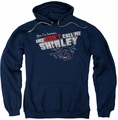Airplane pull-over hoodie Dont Call Me Shirley adult navy