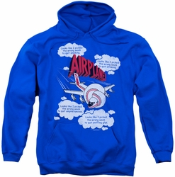 Airplane pull-over hoodie Picked The Wrong Day adult royal blue