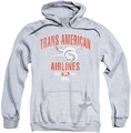 Airplane pull-over hoodie Trans American adult athletic heather