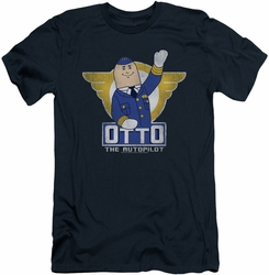 Airplane slim-fit t-shirt Otto mens navy