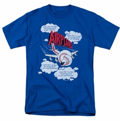 Airplane t-shirt Picked The Wrong Day mens royal