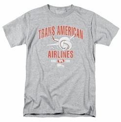 Airplane t-shirt Trans American mens heather