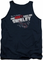 Airplane tank top Dont Call Me Shirley mens navy