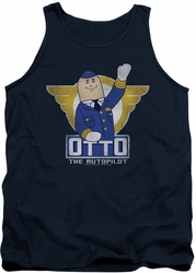 Airplane tank top Otto mens navy
