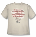 Airplane youth teen t-shirt Fly cream
