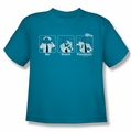 Airplane youth teen t-shirt Johnny Improv turquoise