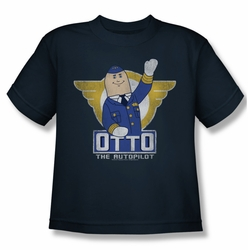 Airplane youth teen t-shirt Otto navy
