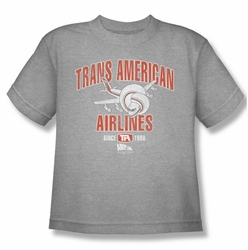 Airplane youth teen t-shirt Trans American heather