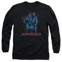 Airwolf adult long-sleeved shirt Graphic black