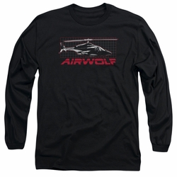 Airwolf adult long-sleeved shirt Grid black