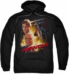 Airwolf pull-over hoodie Airwolf adult black