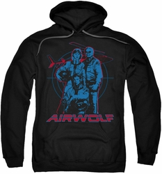 Airwolf pull-over hoodie Graphic adult black