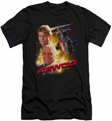 Airwolf slim-fit t-shirt Airwolf mens black