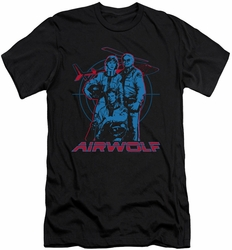 Airwolf slim-fit t-shirt Graphic mens black