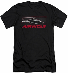 Airwolf slim-fit t-shirt Grid mens black