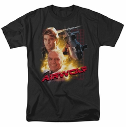 Airwolf t-shirt Airwolf mens black