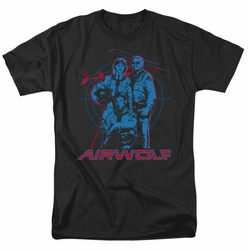 Airwolf t-shirt Graphic mens black