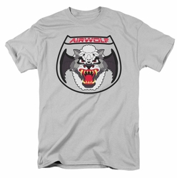 Airwolf t-shirt Patch mens silver