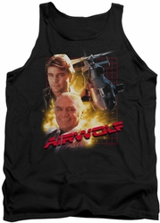 Airwolf tank top Airwolf mens black