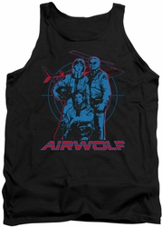 Airwolf tank top Graphic mens black