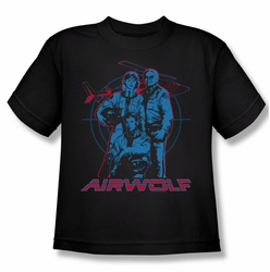 Airwolf youth teen t-shirt Graphic black