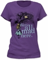 Alice In Wonderland We're All Mad Here junior's t-shirt