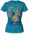 Alice's Adventures in Wonderland Pack of Cards juniors crew turquoise womens pre-order