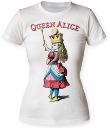 Alice's Adventures in Wonderland Queen Alice juniors crew white womens pre-order