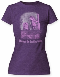 Alice's Adventures in Wonderland Through the Looking Glass juniors tee purple tri-blend womens pre-order